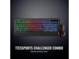 Tipkovnica + miš THERMALTAKE CHALLENGER Combo, US layout, RGB, žična